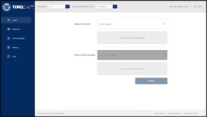 torqcal calibrating software home screen