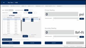 torqcal calibrating software hydraulic run screen