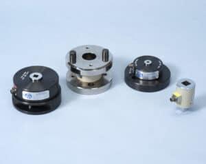 Torque transducer tool against blue background